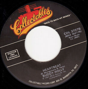 "BUDDY HOLLY - Heartbeat   7"" 45"