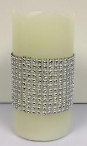 Diamante Sparkle LED Flameless Pillar Candle