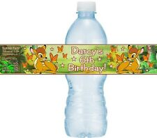 12 Bambi Birthday Party OR Baby Shower Water Bottle Stickers Labels Deer