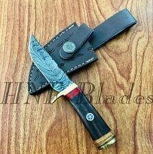 HNF CUSTOM HANDMADE DAMASCUS STEEL DAILY USE HUNTING SKINNER KNIFE - BW 144