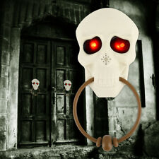 Halloween Doorbell Skull Light Eyeball Talking Scary Sounds Party Bar Door Decor
