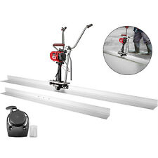 Concrete Screed Power Screed 37.7cc Gas 12' & 8' Blades Powered Finishing Tool