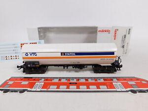 CU625-0,5# Märklin H0/AC 46558 Kesselwagen VTG/Statoil DB NEM KK KKK, NEUW+OVP