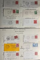 12 Canada Military Post Office Machine Cancel Pieces Covers Collection Lot