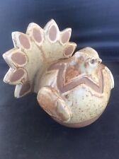 Vintage Studio Pottery Chicken Turkey Bird Moneybox Impressed Mark CP Money Box