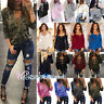 Womens Plus Size Lace Up Criss Cross Blouse Long Sleeve V-Neck Casual Tee Tops