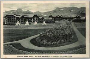 "GLACIER NATIONAL PARK Postcard ""Glacier Park Hotel"" Tepees c1930s Albertype"