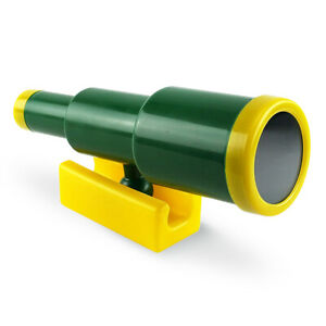 Kids Toy Telescope Green for Climbing Frames Tree Houses and Garden Play Houses