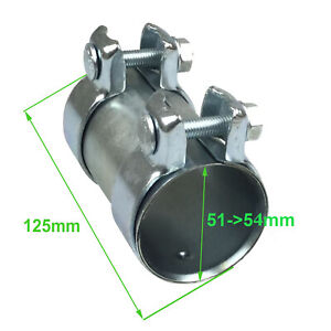 MANCHON TUYAUX ECHAPPEMENT LONGUEUR 125mm DIAMETRE 54mm 54X125