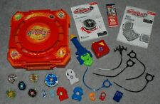 Beyblade Metal Fusion Mobile Beystadium with Beyblade Tops, Launchers Lot