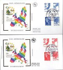 4197/04+ FDC 2  ENVELOPPES  1er JOUR SUR  SOIE  MARIANNE DE L' EUROPE