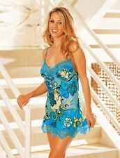 Shirley of Hollywood Women Pure Silk Blue S M L Retro Camisole Designer Lingerie