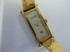 Ladies Gucci Gold Plate Bangle Watch Ivory Colour Dial 1500L #1010