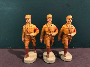 Elastolin: RARE German Soldiers, c1940. Pre War. 7cm Scale
