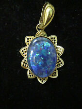 GOLD FILLED OPAL DOUBLET PENDENT