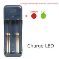 EU Plug Double Battery Charger For 18650 16340 14500 Li-ion Rechargeable Battery
