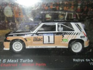 ALTAYA, 1:43 Scale RENAULT 5 MAXI TURBO, Chatriot, VAR RALLY 1986, NEW SEALED !