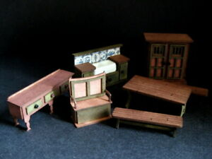 Exquisite 1/48th 1:48 quarter scale doll house kitchen set  by Celia Mayfield
