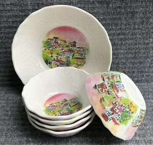 222 Fifth Aurora Dinnerware Sets Set of 4 Salad Plates