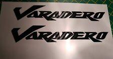 *** 2x HONDA VARADERO XL125 XL1000 in Fibra di Carbonio Decalcomania Sticker Vinyl ***