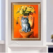 DIY 5D Diamond Embroidery Fat Cat Painting Cross Stitch Kit Home Decor Crafts