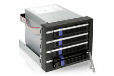 "New ICY Dock FatCage MB154SP-B 4x 4 bay 3.5"" SATA Mobile Rack Hot Swap HDD Cage"