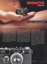 Prospekt d Minox Contax i cámara cámara folleto 1996 brochure Camera folleto