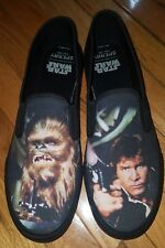 NEW Sperry Top Sider Star Wars Han Solo & Chewbacca slip-on shoes Size 12