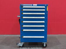 Stanley Vidmar 8-Drawer Tool Cabinet Shop Equipment Storage Box Rollaway bidadoo