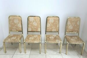 7 1970s Gold Coloured Roche Bobois Chairs. Great project for recovering.