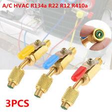 Car Charging Hose Adapter A/C R134a R22 R410a Refrigerant w/ Compact Ball Valve