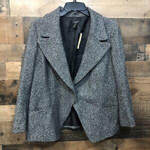 New Ann Taylor Blazer 12 Black White, Lined, Career, Work