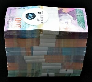 2018 Venezuela $2-$100 Bolivares 12 Pack Brick 2 Bundles Each 1,200 Pc New Unc