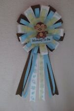 Baby Shower Corsage Pin Monkey Mommy To Be Handmade Brown Yellow New