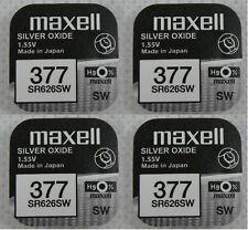 4x Maxel 377 V377 Uhren-Batterie Knopfzelle SR66 SR626 AG4 SR626SW