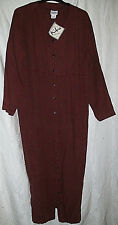 Kiko Brown Size Large 100% Linen Loose-Fitting Long Button-Front Dress NWT MAXI