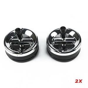2PCS  Windproof Smoking Holder Black Stainless Steel Cigarette Lidded Ashtray