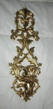 Vintage Victorian Homco Gold Wall Candle Holder Sconce #4933 Ornate