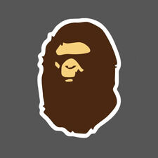 5Pcs A Bathing Ape Bape Logo Vinyl Sticker Skateboard Luggage Laptop Phone Decal