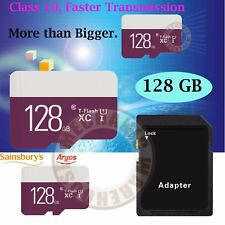 High Performance 128GB Micro SD XC UHS-I Mobile Memory TF Flash Card Class 10 UK