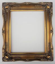 "10"" x 8"" Gold Ornate Antique Shabby Chic Swept Photo Picture Frame Glass & Back"