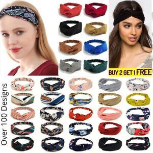 Stretchy Twist Knot Head Wrap Boho Headband Knotted Hairband Ladies Hair Band UK