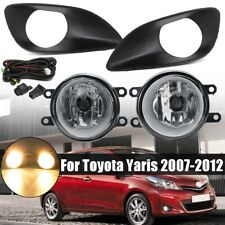 Front Fog Lights Lamp Kit For Toyota Yaris Sedan 2007 2008 2009 2010 2011 2012