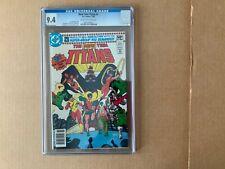 CGC 9.4 NEW TEEN TITANS #1 DC Wolfman Perez Wonder Girl Robin Kid a Flash