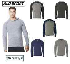 NEW Alo Sport Triblend Jersey Hooded Pullover M3101 Raglan Sleeve CLOSEOUT SALE!