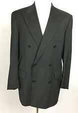 CORNELIANI Men's Size 41R Double Breasted Suit Jacket Gray Striped Wool ITALY