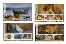 2017 HENRI DE TOULOUSE-LAUTREC ART PAINTINGS  8 SOUVENIR SHEETS MNH UNPERFORATED