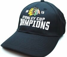 Chicago Blackhawks - 2013 Stanley Cup Champions Hockey Cap Hat - OSFM - Black