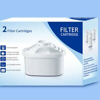 2pcs Water Filter Cartridge Purify Kettle Clean Kit Replacement For BRITA MAXTRA