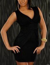 Sexy Miss Women's Trendy V-Dekollete Mini Dress Girly Dress Black 34/36/38 New
